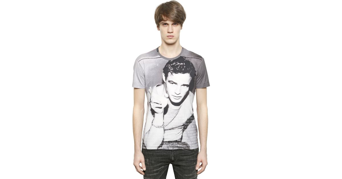 9162e0ead42 Lyst - Dolce   Gabbana Marlon Brando Tm Cotton Tshirt in Gray for Men