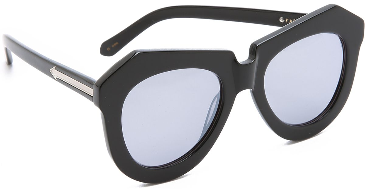 b3d25fe96ea4 Karen Walker Superstars One Worship Sunglasses in Black - Lyst
