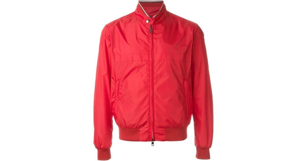 red moncler bomber jacket