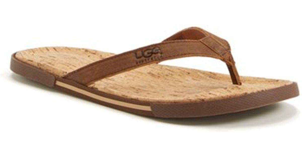 7f9cd911c52 Lyst - UGG Ugg  bennison Ii  Leather Flip Flop in Brown for Men
