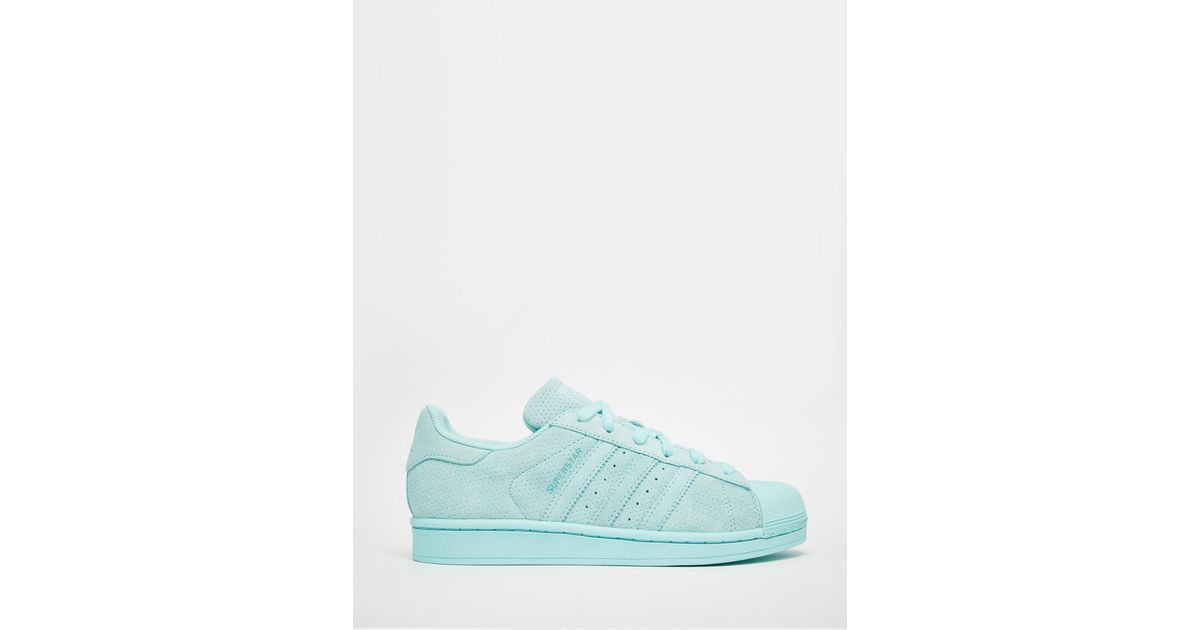 d2e1e8d1d974 Lyst - adidas Originals Originals Superstar Rp Tonal Aqua Trainers in Blue