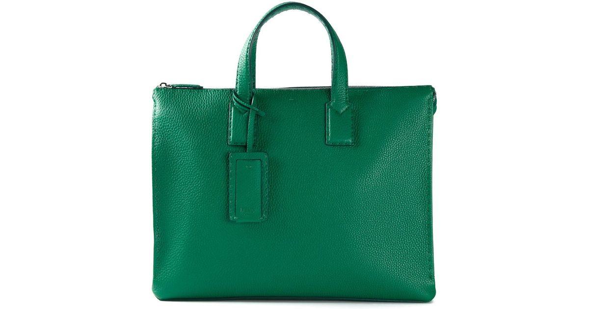 f0fa872a7f33 ... where can i buy lyst fendi selleria tote in green for men 6a484 9630c