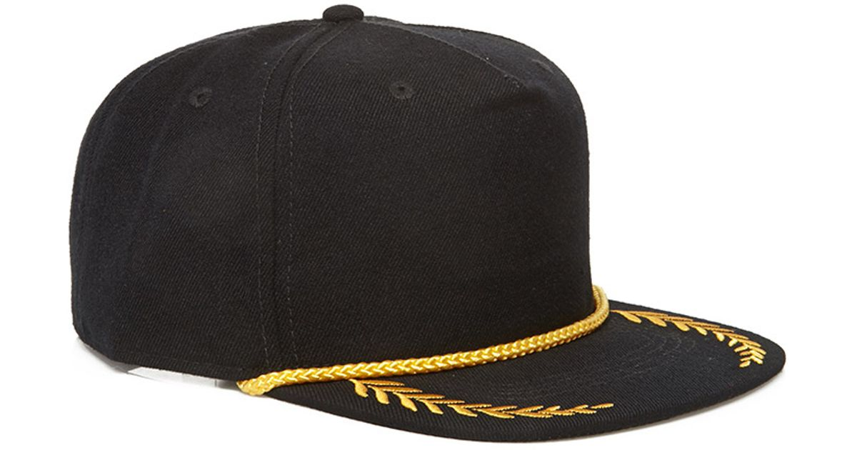 Lyst - Forever 21 Classic Captain Snapback in Black for Men 89bfbe2f653