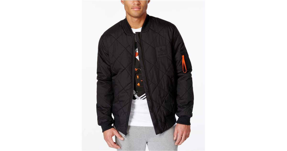 Lyst - Adidas Originals Originals Men's Superstar Bomber Jacket in Black for Men