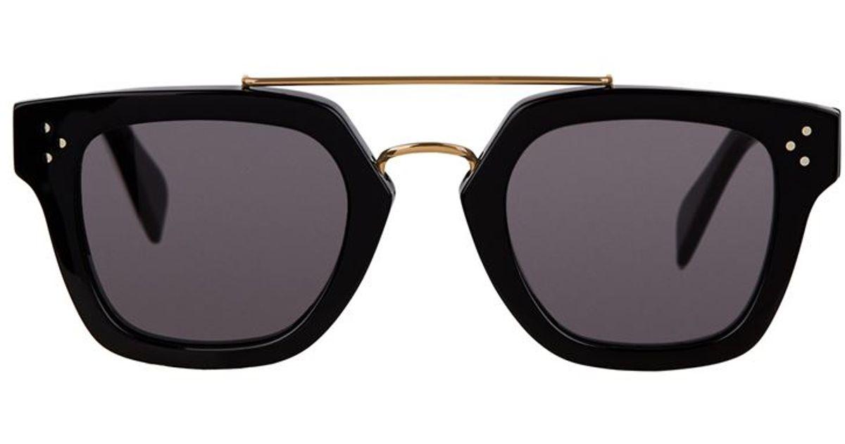 cc16a415f6b Céline Bridge Sunglasses in Black - Lyst