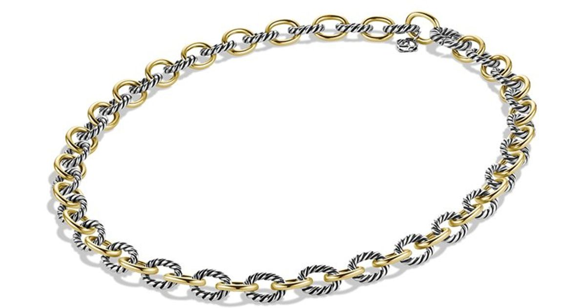 Lyst David Yurman Medium Oval Link Chain Necklace 30l In Metallic