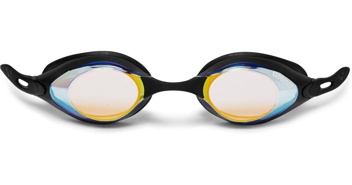 26e7071eb82f Arena Cobra Mirrored Swimming Goggles in Black for Men - Lyst