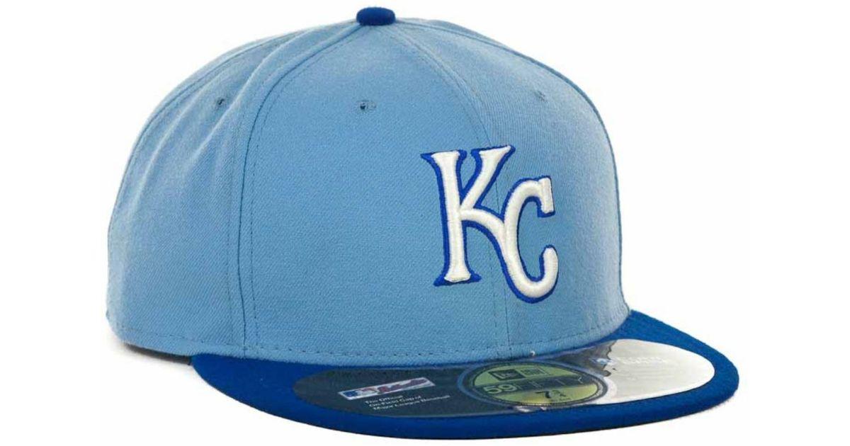 96528d5740e413 KTZ Kansas City Royals Mlb Authentic Collection 59fifty Cap in Blue for Men  - Lyst