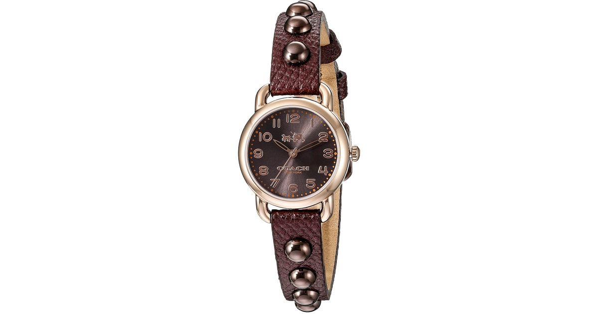Lyst Coach Delancey 23mm Rubber Watch In Metallic