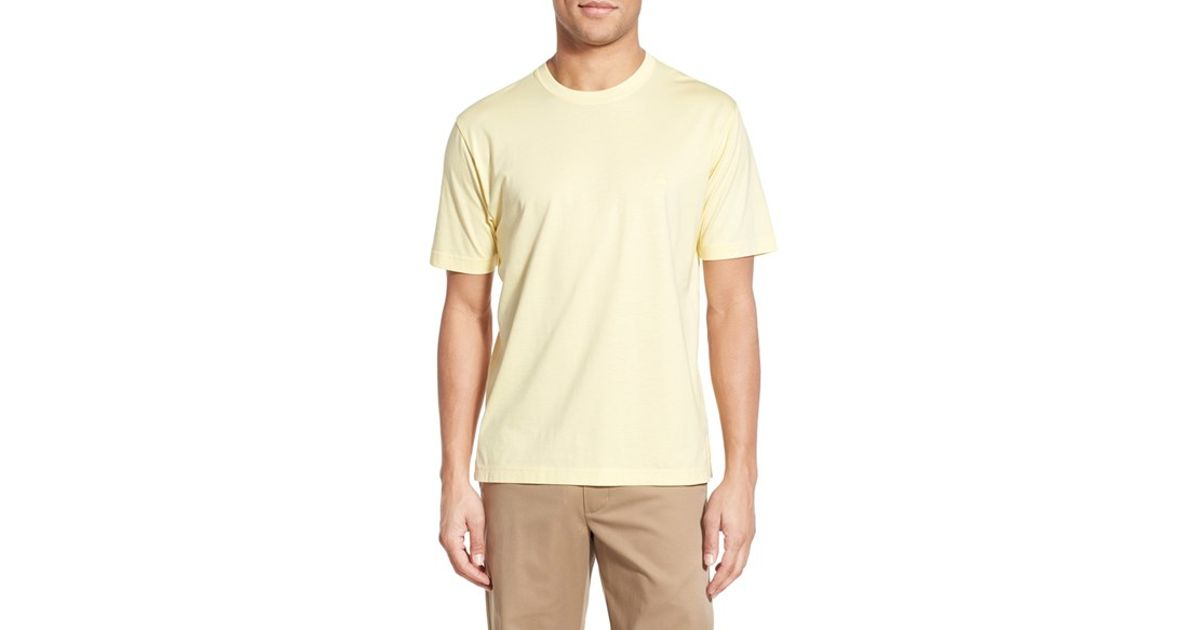 08ad1d216d8 Lyst - Brooks Brothers Supima Cotton Crewneck T-shirt in Yellow for Men