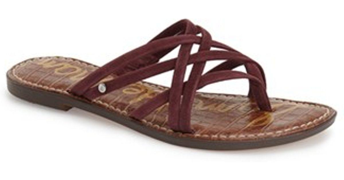 3163d47e35e7 Lyst - Sam Edelman Georgette Criss-Cross Suede Sandals in Red