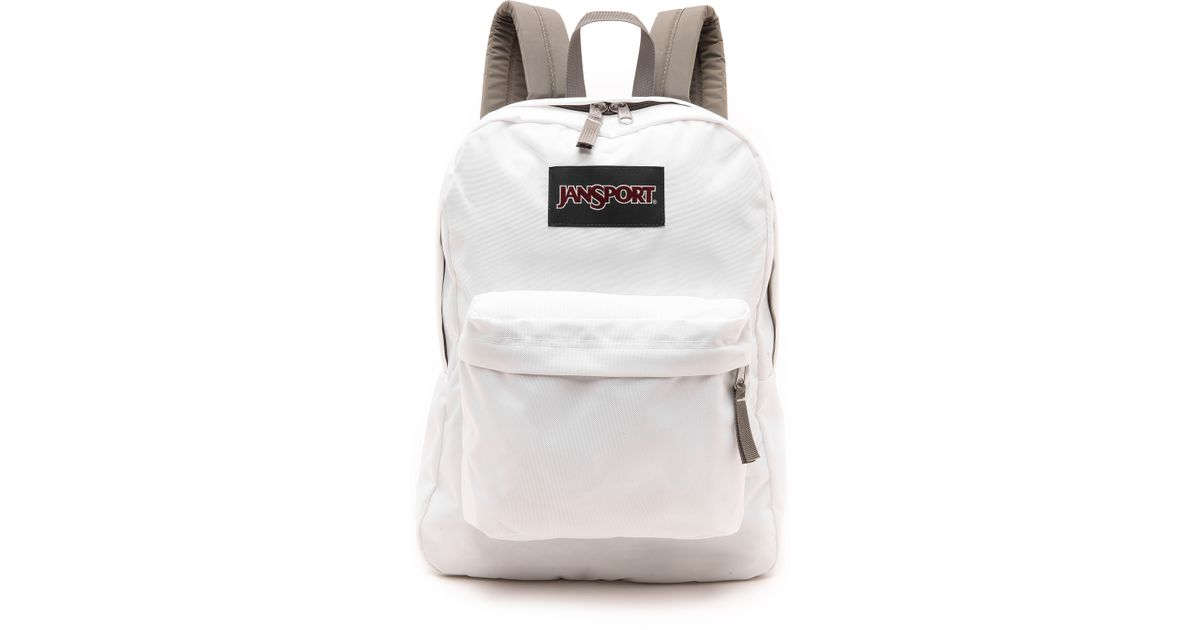 Jansport Classic Superbreak Backpack - White in White | Lyst