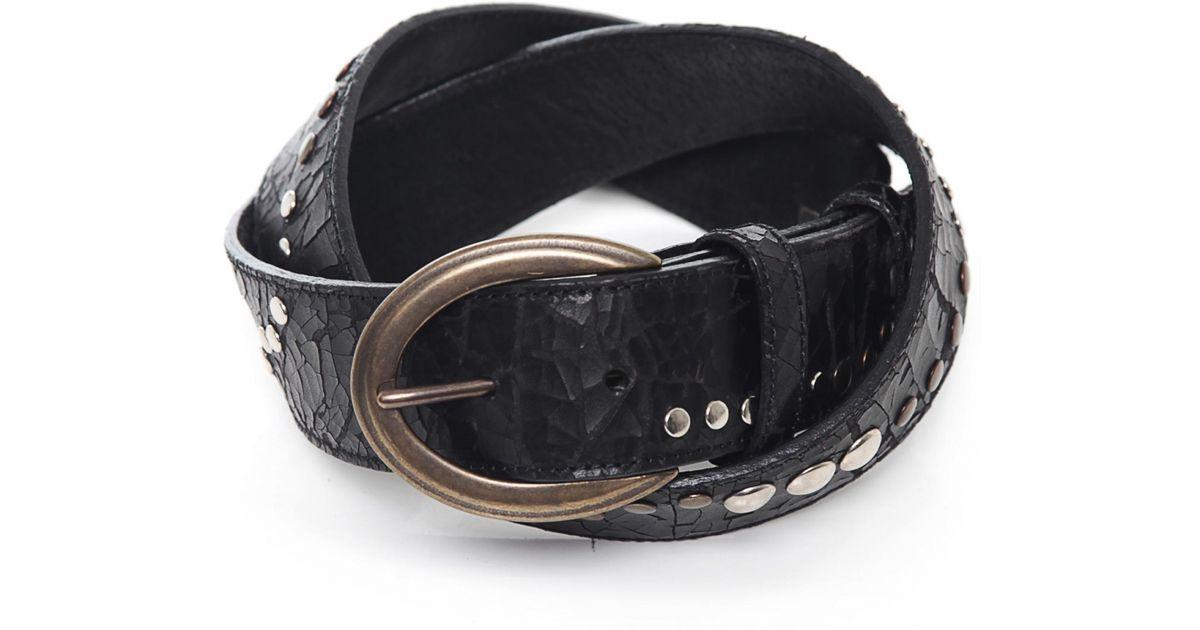 elliot studded leather belt in black lyst