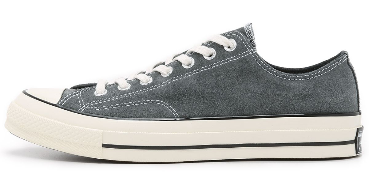 61c4a5d4c46834 Lyst - Converse Chuck Taylor All Star  70s Suede Sneakers in Gray for Men