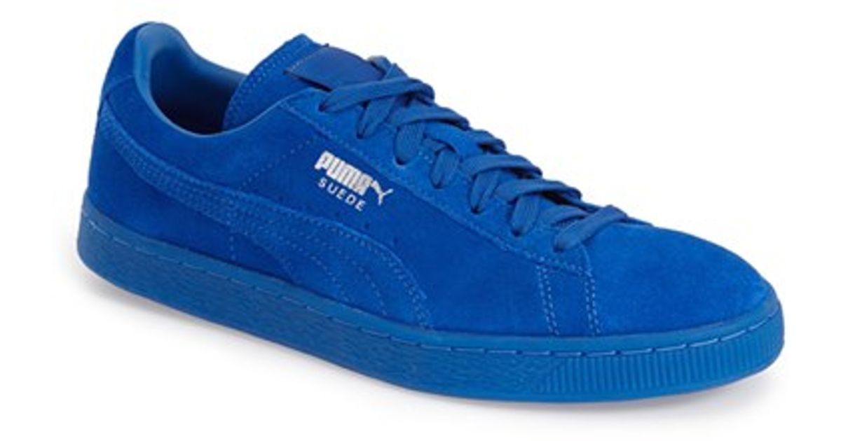 5534eaf0ee8 ... new zealand lyst puma suede classic iced sneaker in blue for men 05251  6cc62
