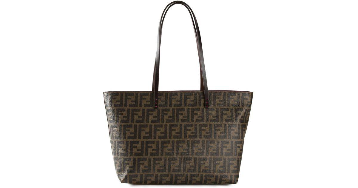 Lyst - Fendi Ff Logo  roll  Tote Bag in Brown 115b82c4331e0