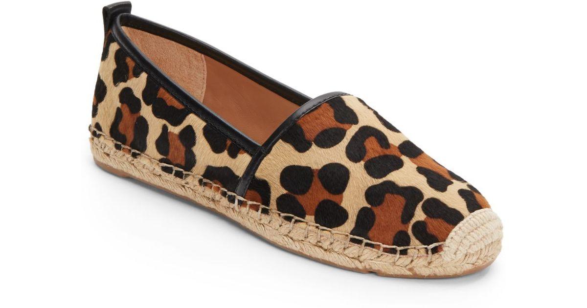 a8aadc00a508 Vince Camuto Signature Leopard-Print Calfhair Espadrilles - Lyst
