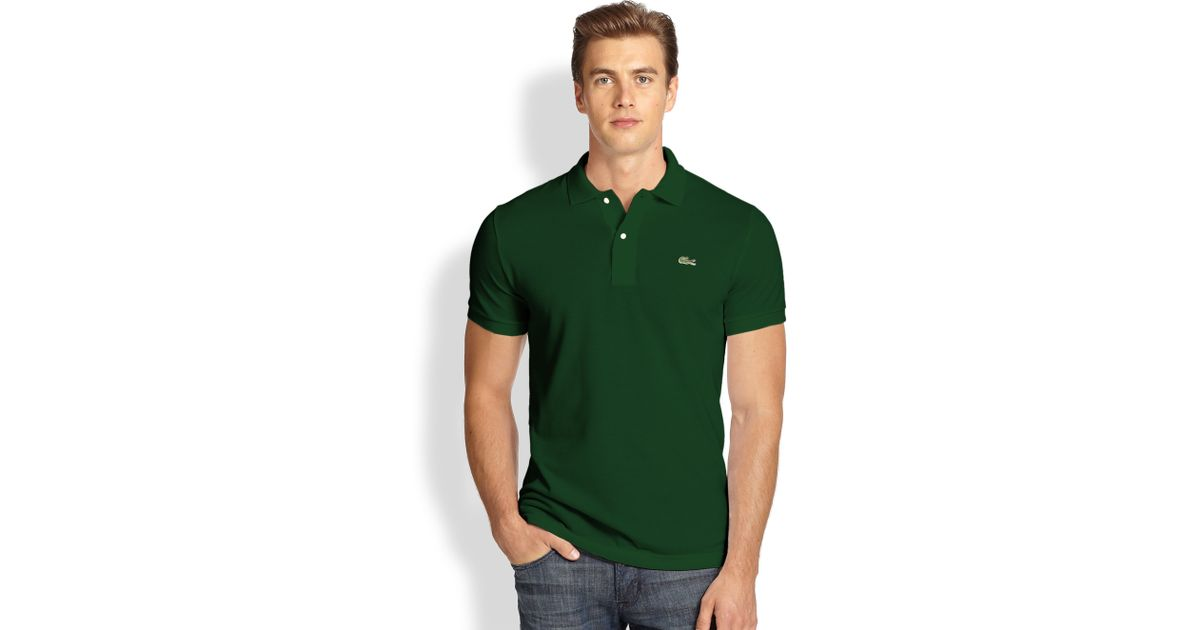 f75fe5f2a Lacoste Slim-Fit Polo in Green for Men - Lyst