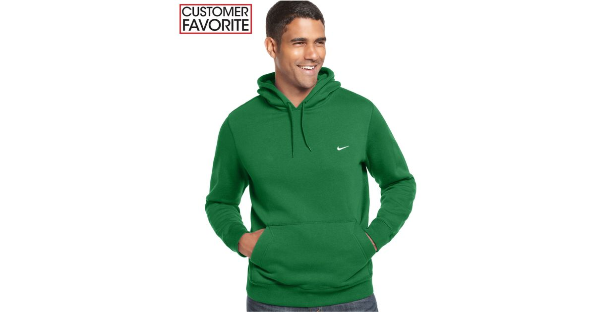 6db2516dca0e Lyst - Nike Classic Fleece Pullover Hoodie in Green for Men
