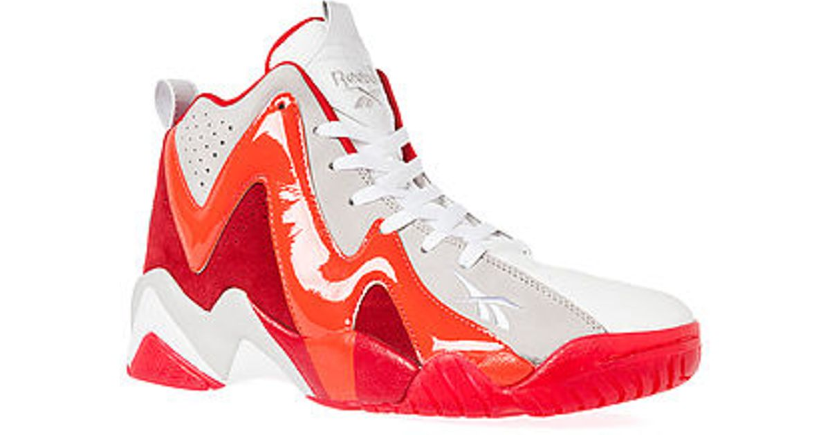 41460e950c0c Lyst - Reebok The Kamikaze Ii Mid Ghost Of Christmas Past Sneaker in Red  for Men