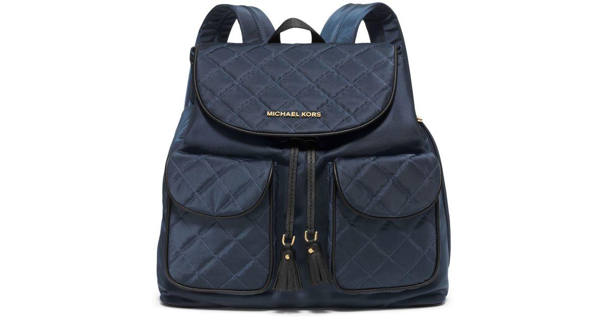 Blue nylon backpack LLwfbQQA