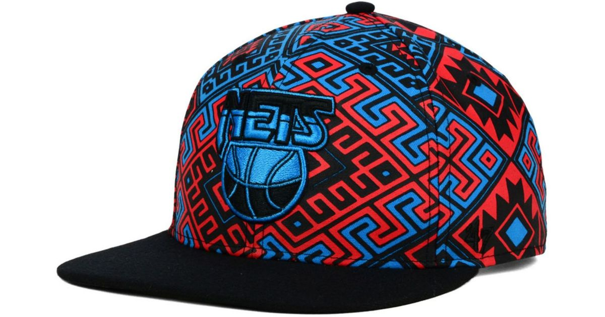 super popular fb3c9 c834e ... low price lyst 47 brand new jersey nets bissau snapback cap in red for  men c54c1