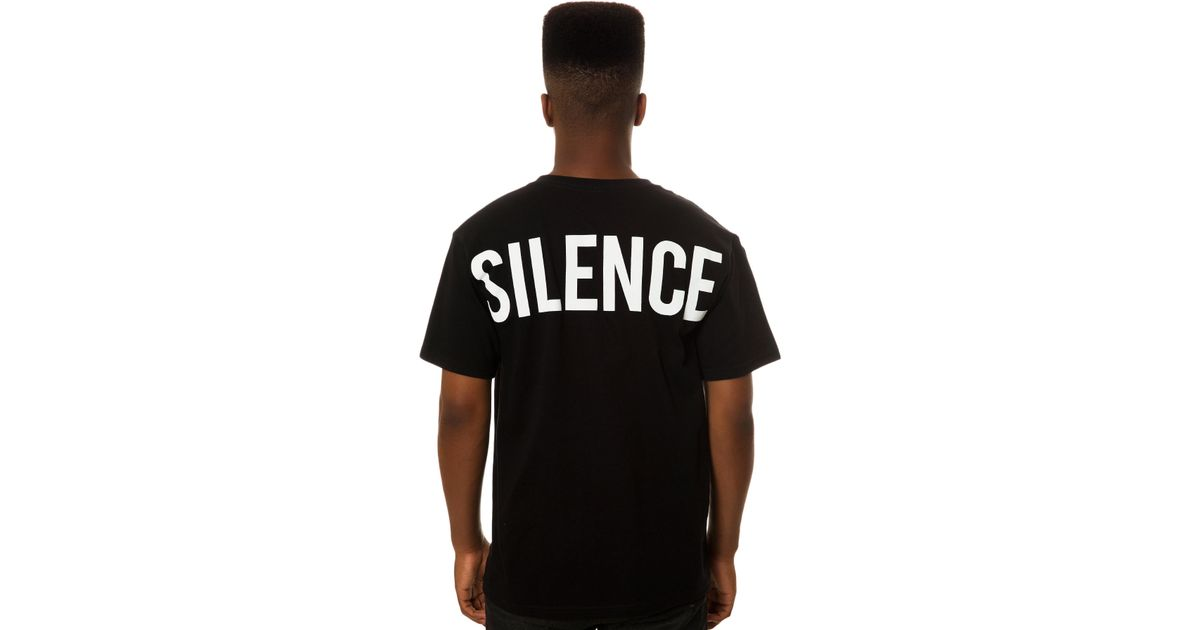 Lyst - Black Scale The Moment Of Silence Tee in Black for Men 15f444871