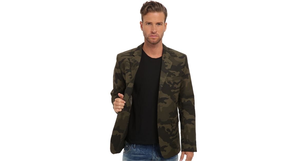 lyst g star raw omega camo blazer in green for men. Black Bedroom Furniture Sets. Home Design Ideas