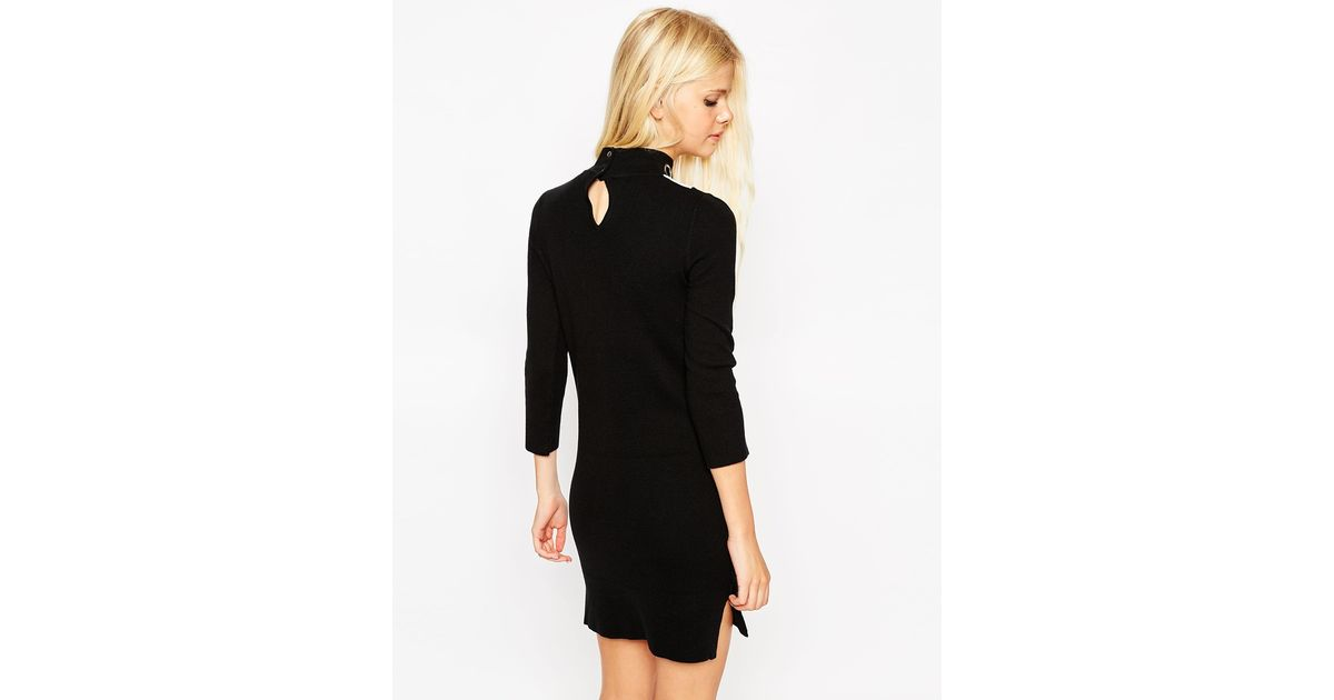 Asos shift dress in knit with eyelet collar detail in for Mens eyelet collar dress shirts