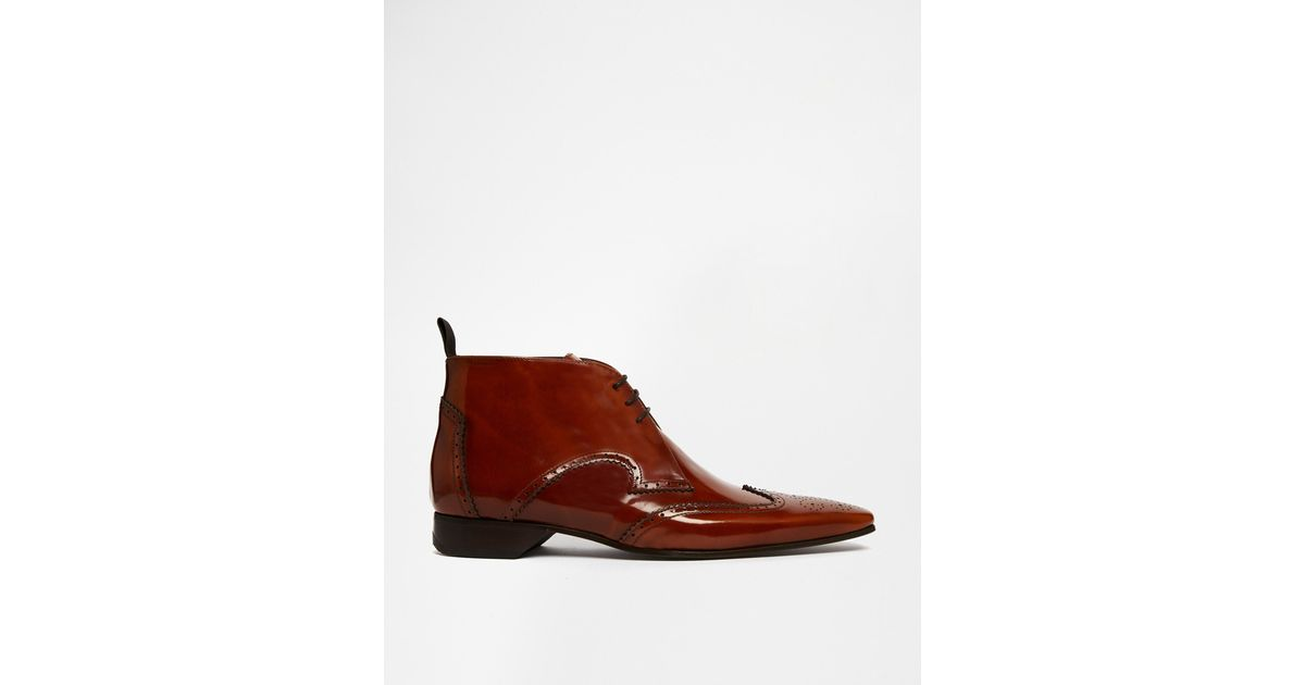 Jeffery West Brogue Short Boots In Brown For Men Lyst