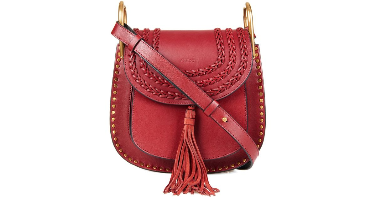 époustouflant Chloé Hudson Small Leather Shoulder Bag in Red - Lyst @PS_57