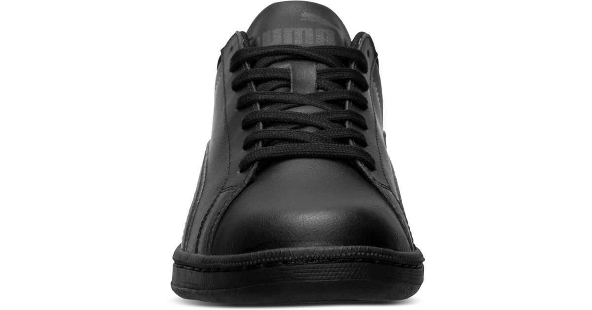 3600f322bb5a Lyst - PUMA Men S Smash Leather Casual Sneakers From Finish Line in Black for  Men