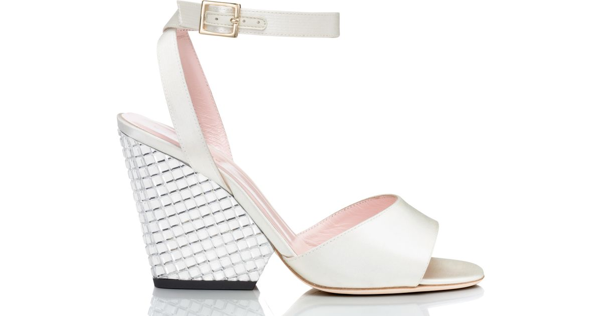 beb2ddb1c6fe kate spade new york - White Isadora Heels - Lyst