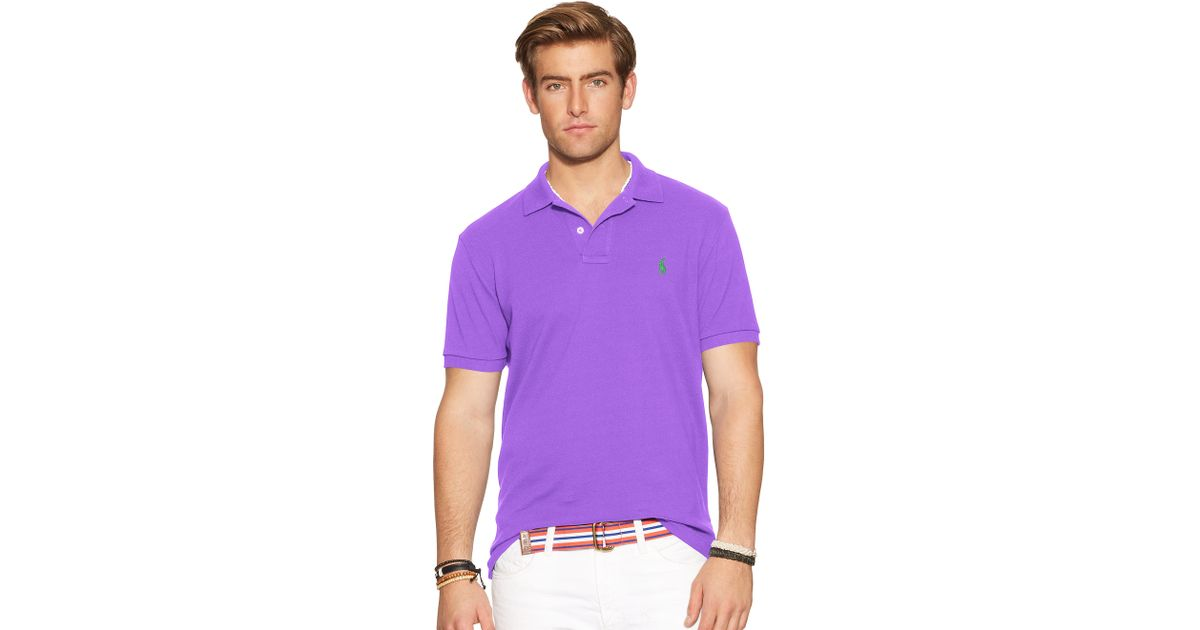 Polo Men Ralph Lauren Mesh Classic-Fit White Short Sleeved