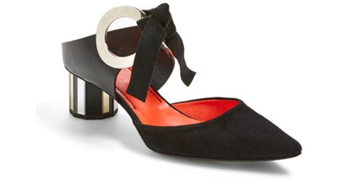 Proenza Schouler Ring Suede and Metallic Leather Pumps CD1Kgs