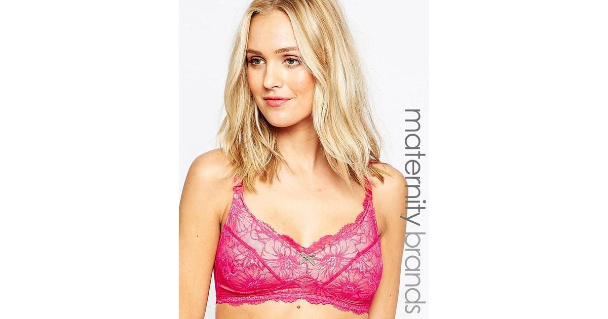 4998040f26c8a Lyst - Heidi Klum Sabine Nursing Bra in Pink