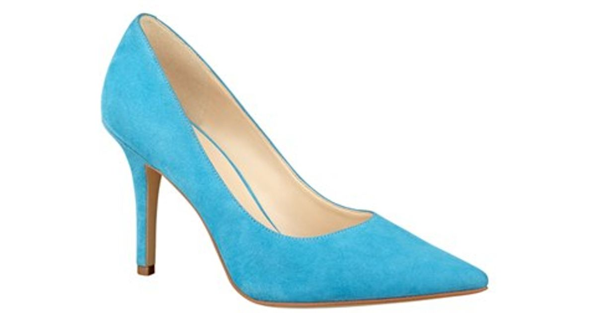 5b34e71472f Lyst - Nine West  jackpot  Pointy Toe Pump in Blue
