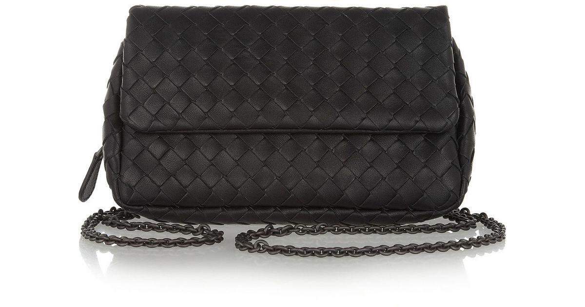 Bottega veneta Messenger Mini Intrecciato Leather Shoulder Bag in . 5dfdaefafcd46