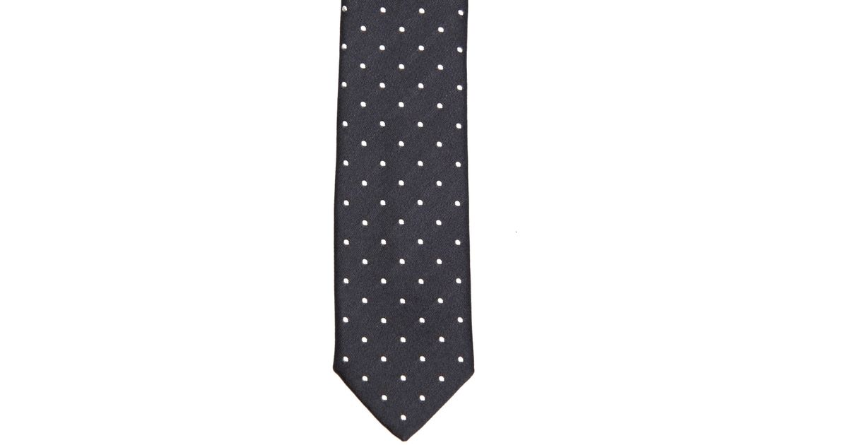 b4648eaf Dolce & Gabbana Polka Dot-Jacquard Skinny Tie in Blue for Men - Lyst