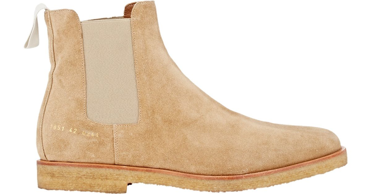 Common Projects Suede Chelsea Boots In Brown For Men Save 27 Lyst
