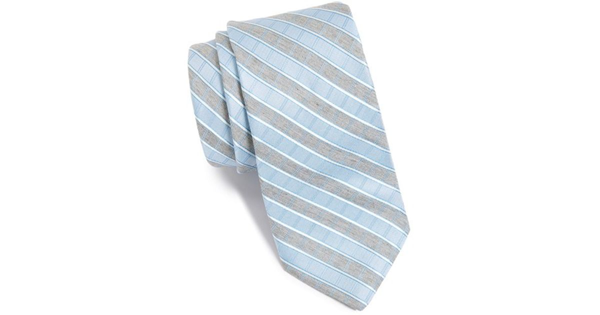 73e2e031ff76 Lyst - Michael Kors 'country Time' Stripe Silk Tie in Blue for Men