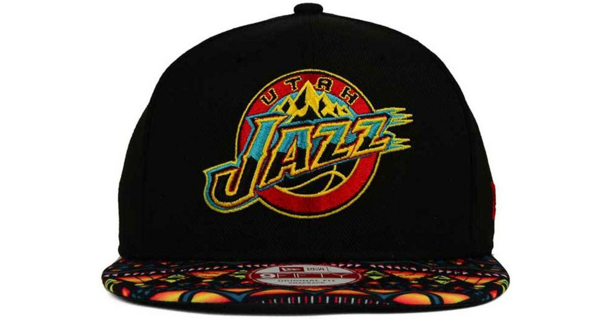 6cb304fd9 ... czech lyst ktz utah jazz tribe called 9fifty snapback cap in black for  men 8802c 666a7