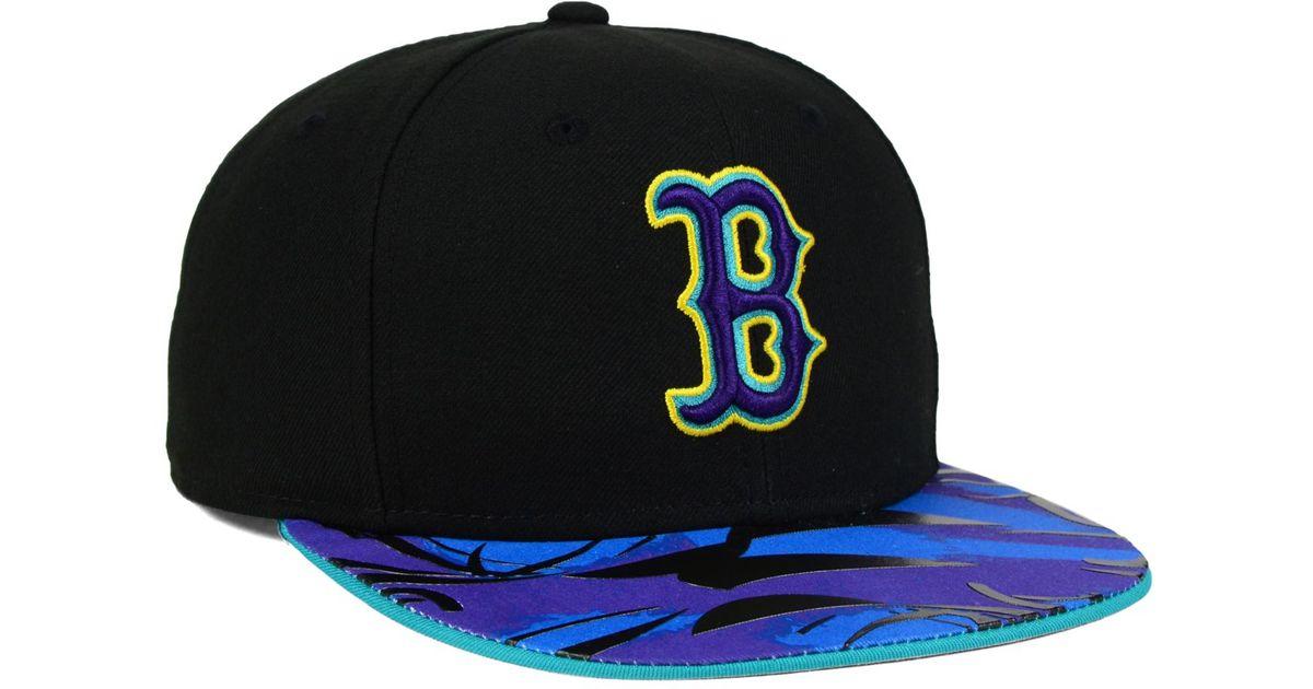 buy popular 5d67b f6df6 ... czech lyst ktz boston red sox aqua hook vize 9fifty snapback cap in  blue for men