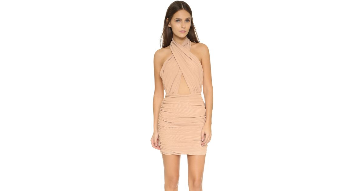Beige Dress Picture Collection: Misha Collection Keziah Dress In Beige (Nude)