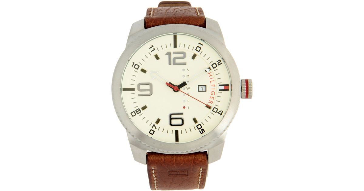 tommy hilfiger wrist watch in natural for men lyst. Black Bedroom Furniture Sets. Home Design Ideas