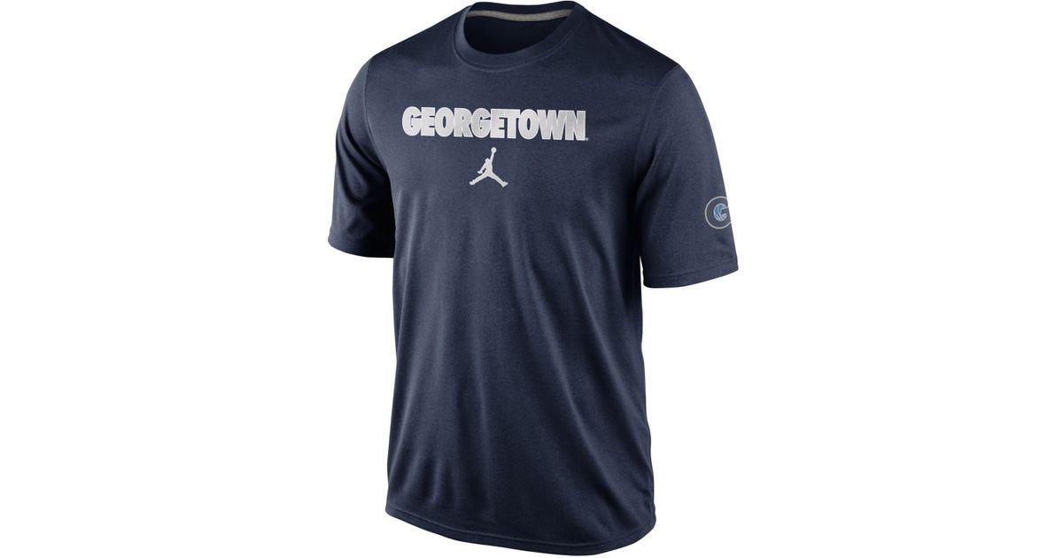 on sale 887ff e42c5 Nike - Blue Men's Georgetown Hoyas Basketball Fill T-shirt for Men - Lyst