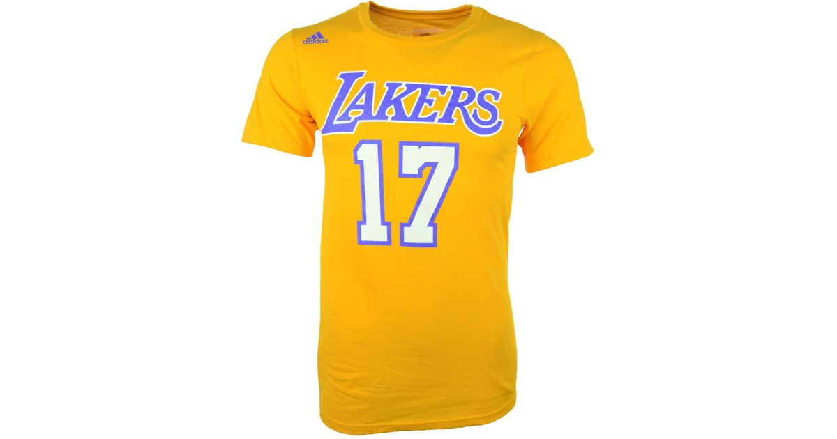 683c46e9c2b Lyst - adidas Men's Short-sleeve Jeremy Lin Los Angeles Lakers Player T- shirt in Metallic for Men
