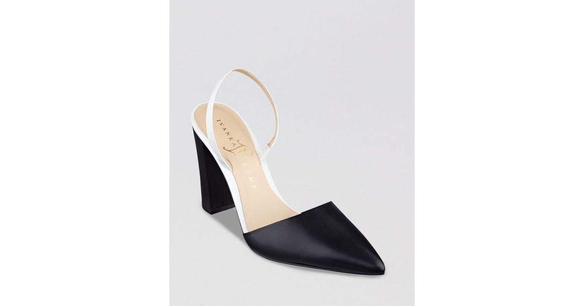e5866f68411d Lyst - Ivanka Trump Pointed Toe Pumps Cami Slingback High Heel in Black