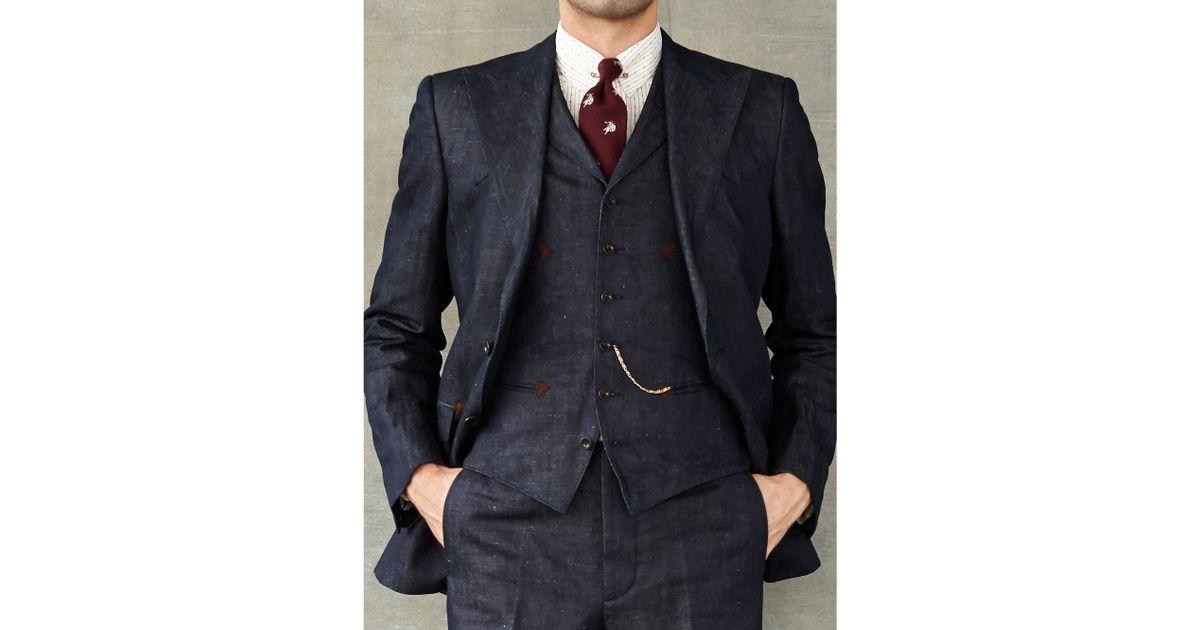 Rrl Denim Sport Coat in Blue for Men | Lyst