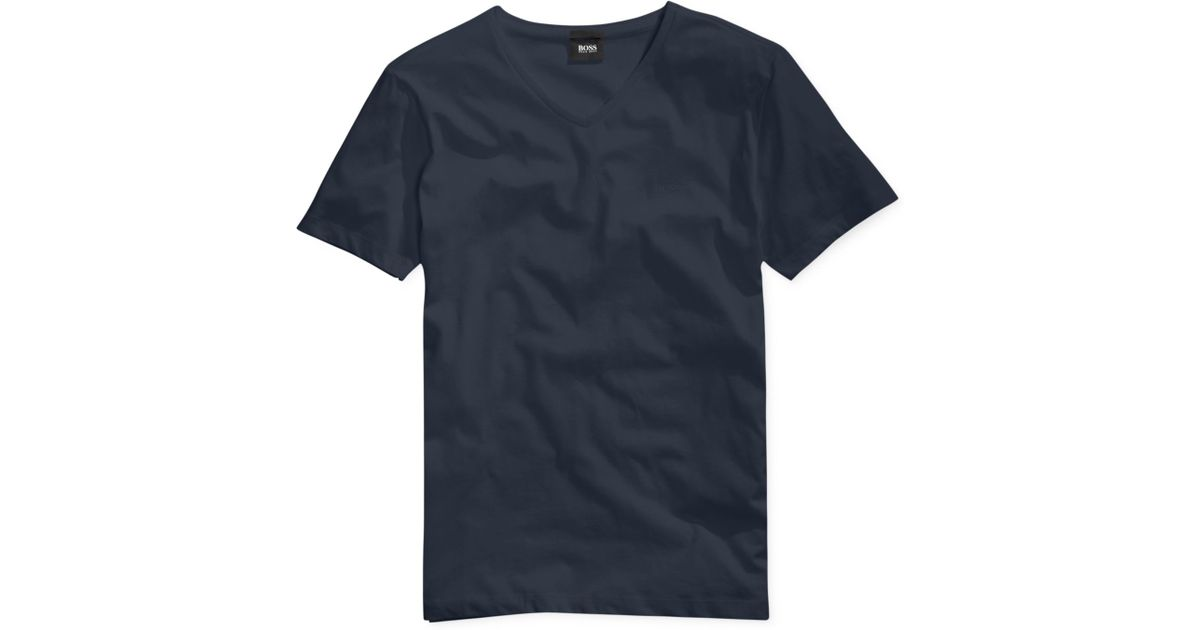 f4f07d63 BOSS Boss Canistro 80 Slim-fit T-shirt in Blue for Men - Lyst